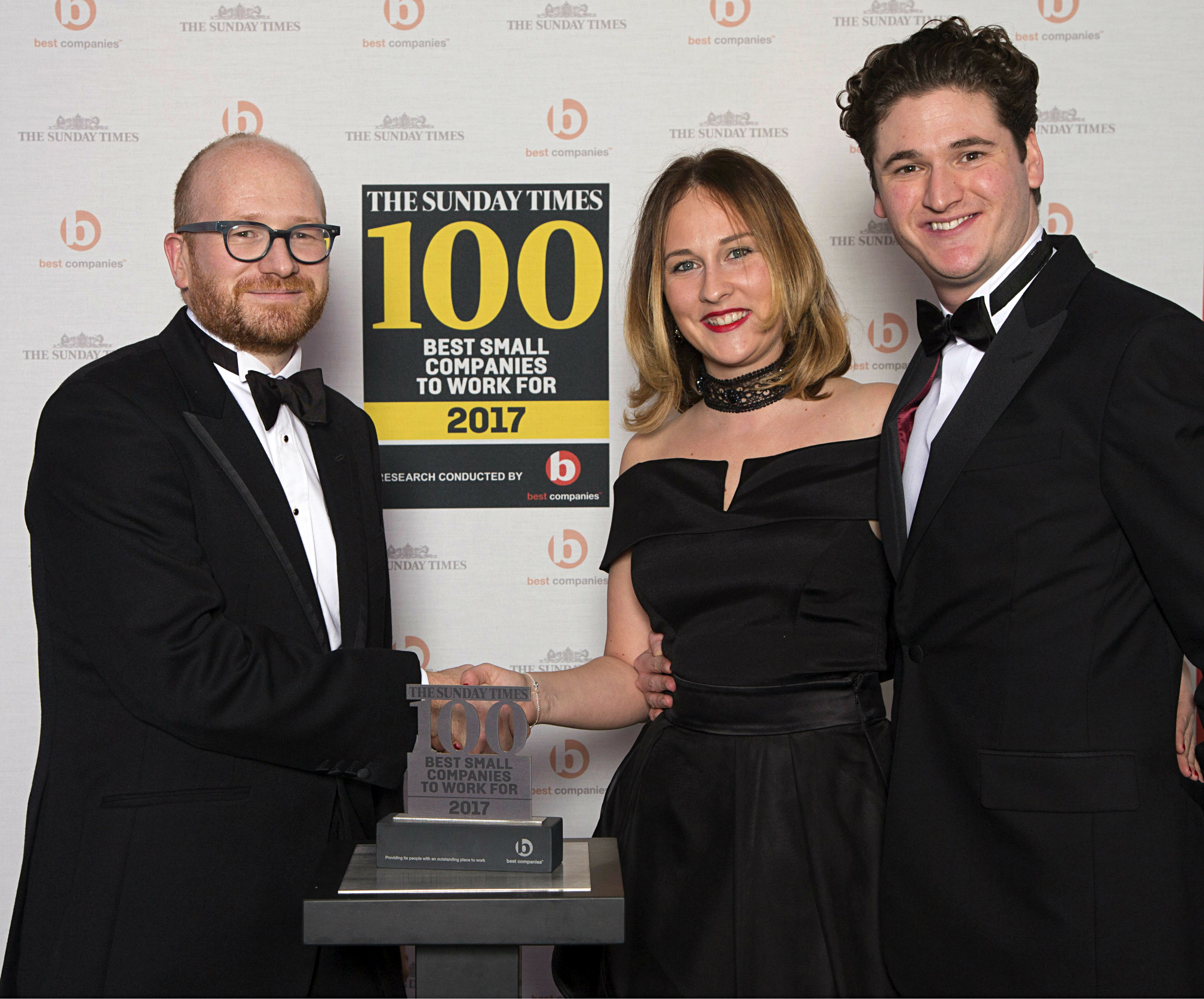 the sunday times 100 best small companies award for 2017